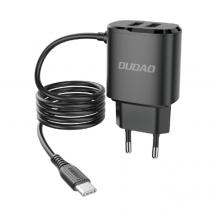 DudaoDudao Väggladdare 2x USB Type-C Kabel 12 W - Svart