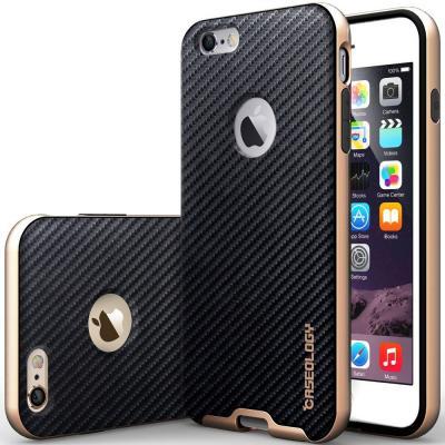 Caseology Bumper Frame Skal till Apple iPhone 6(S) Plus - Carbon Svart 09f25961ae107