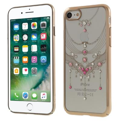 Kavaro Skal med Swarovski stenar till iPhone 7/8/SE 2020 - Gold Butterfly