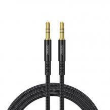 JoyroomJoyroom stereo audio AUX cable 3,5 mm mini jack 1,5 m Svart