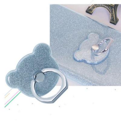 NalleBjörn Glitter Ringhållare till Mobiltelefon - LjusBlå