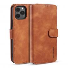 DG.MING Retro Läder Plånboksfodral iPhone 12 Pro Max - Brun