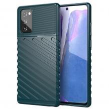 OEMThunder Twill Texture Skal Till Galaxy Note 20 - Grön