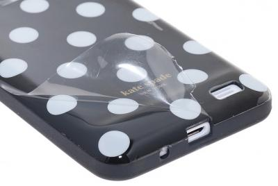 Polka Dots flexiCase skal till iPhone 4 / 4S (Vit)