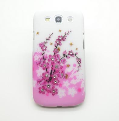Diamant Baksideskal till Samsung Galaxy S3 i9300 Sommar Rosa