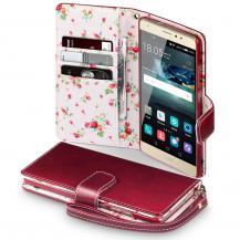 OEMFloral Interior Plånboksfodral till Huawei Mate S - Röd