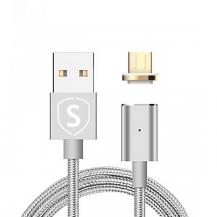 SiGNSiGN Magnetkabel USB-C 2.4A 1 m - Silver