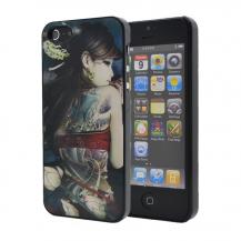 OEM3D Baksideskal till Apple iPhone 5/5S/SE (Red Girl)