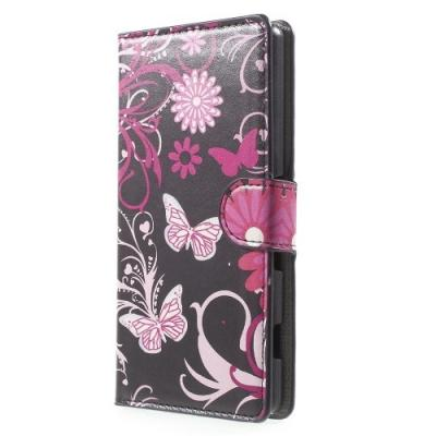 Plånboksfodral till Sony Xperia Z3+ - Black Butterfly