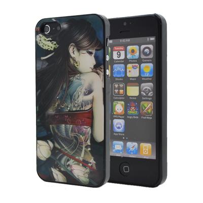 3D Baksideskal till Apple iPhone 5/5S/SE (Red Girl)