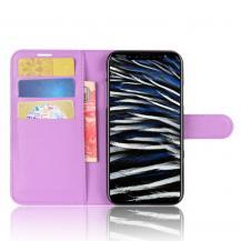 A-One BrandLitchi Plånboksfodral till iPhone XS / X - Lila