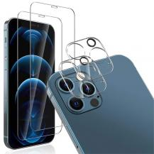 A-One BrandiPhone 12 Pro Max [4-PACK] 2 X Linsskydd Glas + 2 X Härdat glas
