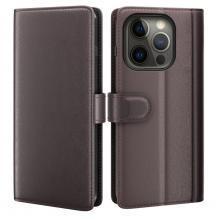 A-One BrandÄkta Läder Fodral till iPhone 13 Pro Max - Brun