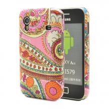 OEMBaksidesskal till Samsung Galaxy Ace - Rosamönstrad