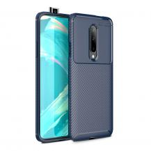 A-One BrandCarbon Fiber Mobilskal till OnePlus 7 Pro - Blå