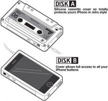 OEMSilikon Skal till iPhone 4 / 4S (Kassettfodral) Brun
