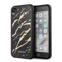 GuessGUESS iPhone 7/8 / SE 2020 Glitter Marble Glass - Svart