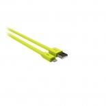 KITKIT FRESH Synkkabel Lightning 1m LED MFI - Grön