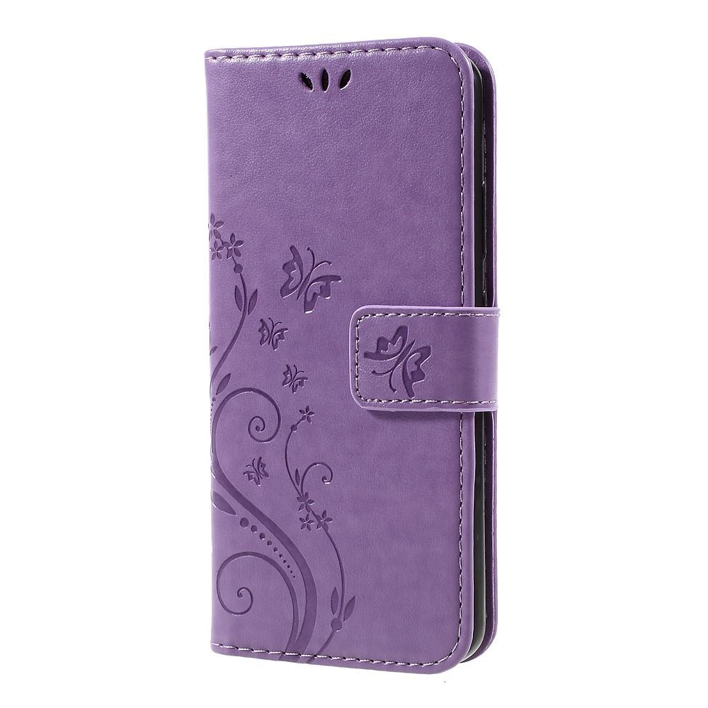 Plånboksfodral med Fjärilar till Huawei P10 - Lila