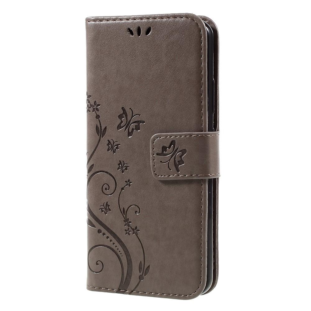 Plånboksfodral med Fjärilar till Huawei P10 - Grå
