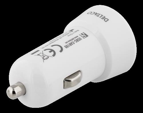 NY, 12V USB C bil laddare, adapter, 3A, 15W, USBC till iphone samsung mobil