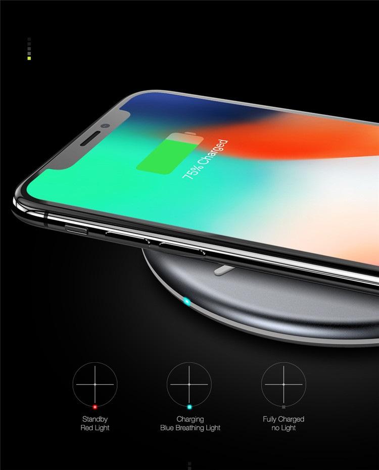 FLOVEME Snabb Qi Trådlös Laddare till iPhone 8 X XS Max XR Trådlös Laddare Pad Till Apple Watch Laddare För Samsung Galaxy S9 S8
