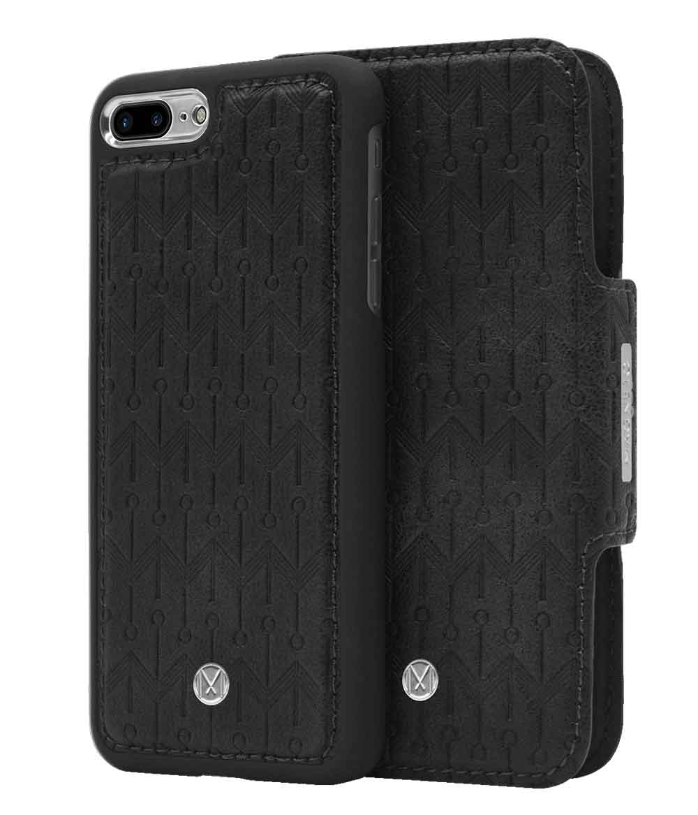 Marvêlle N°307 Plånboksfodral iPhone 7/8 Plus - MIDNIGHT BLACK SIGN
