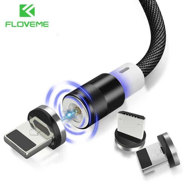 FLOVEME Magnetkabel för Samsung S6 S7 Magnetisk Laddare