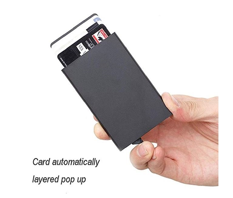 RFID Blocking Credit Card Pop-up Korthållare - Silver