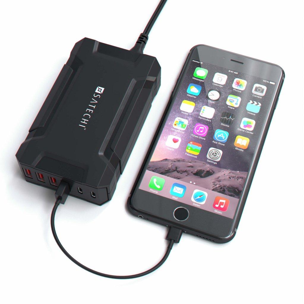 Satechi Multi Port USB Laddare 60W 6 Port