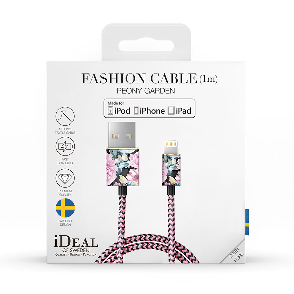 iDeal Fashion Cable Lightning 1m - Peony Garden