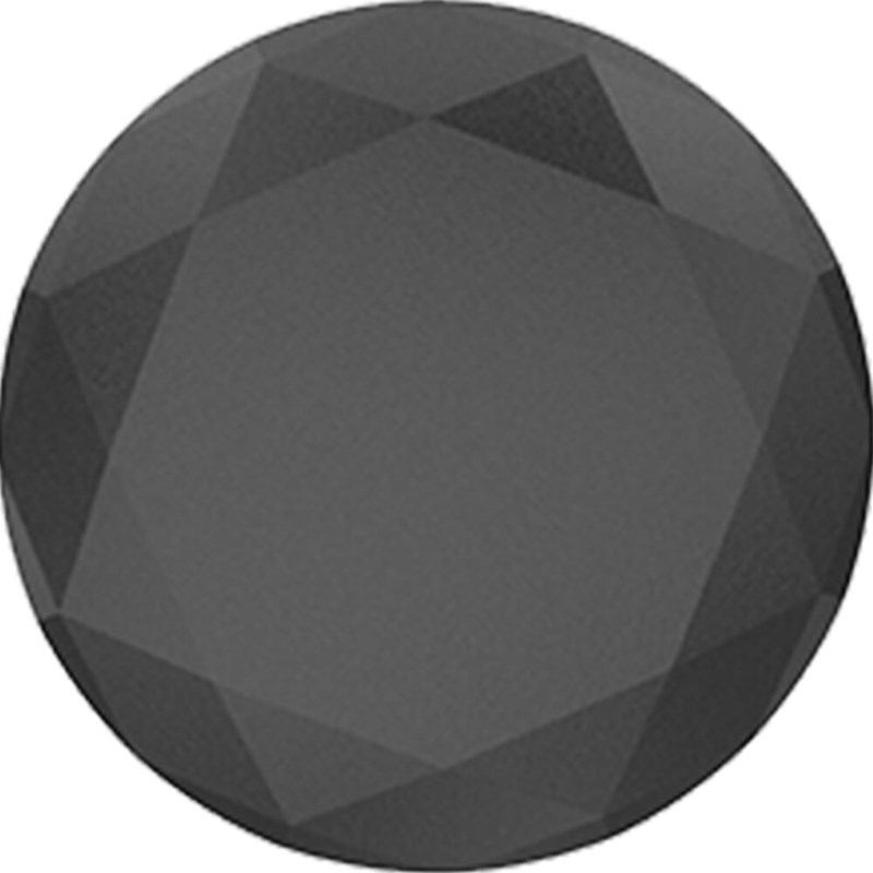 PopSockets Black Metallic Diamond Grip med Ställfunktion Premium Diamond