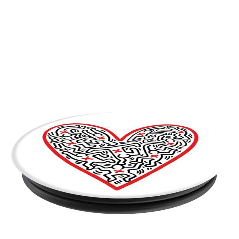 PopSockets Figures In A Heart  Grip med Ställfunktion Premium Keith Haring