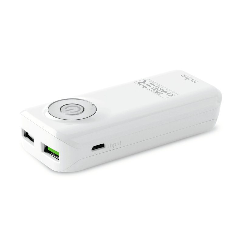 Puro Universal Fast Charger Power Bank, 5200 mAh, vit