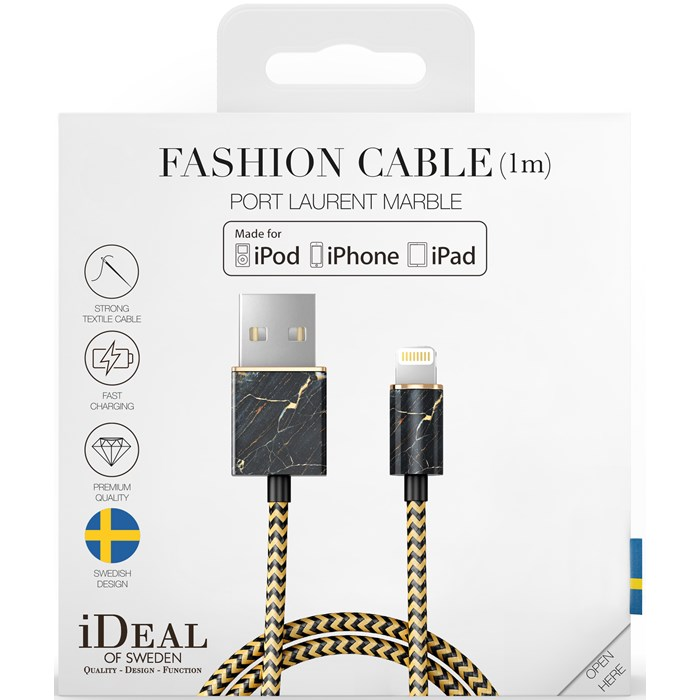 iDeal of Sweden Fashion Cable Lightning 1M - Port Laurent Marble