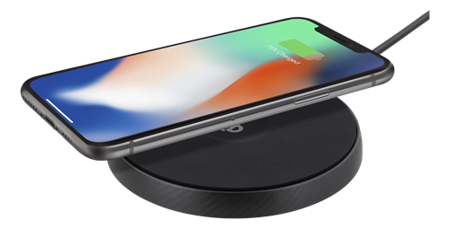 DELTACO Qi snabbladdare för iPhone och Android Svart