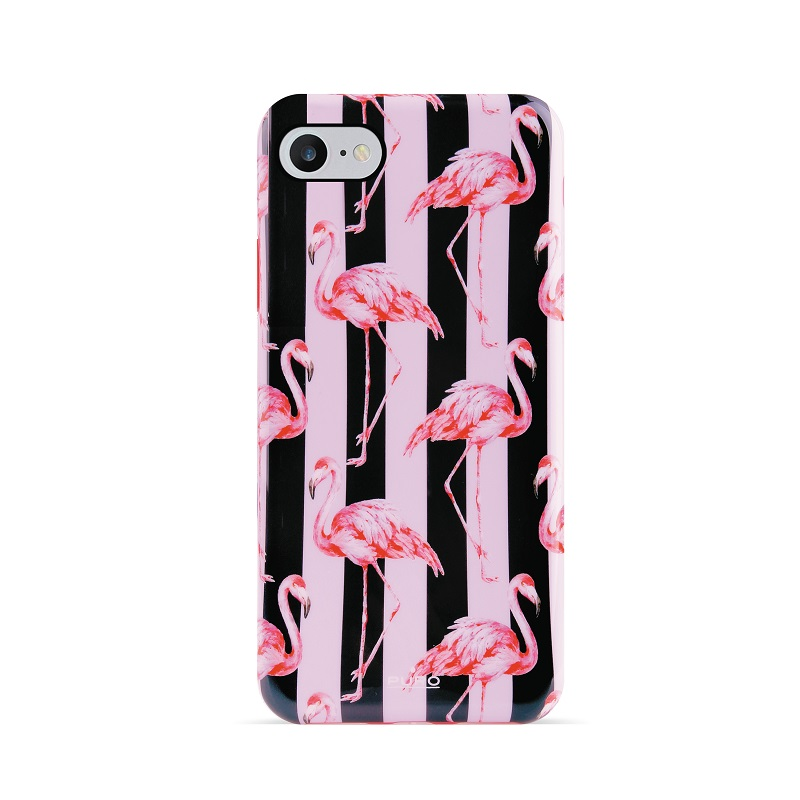 Puro Miami Stripes Flamingo Cover iPhone 8/7/6S