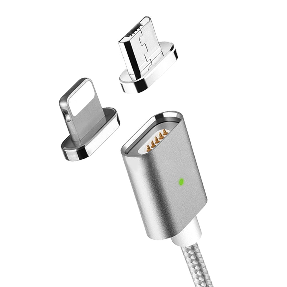 MOC Magnetic Cable Micro-USB + Lightning - Silver
