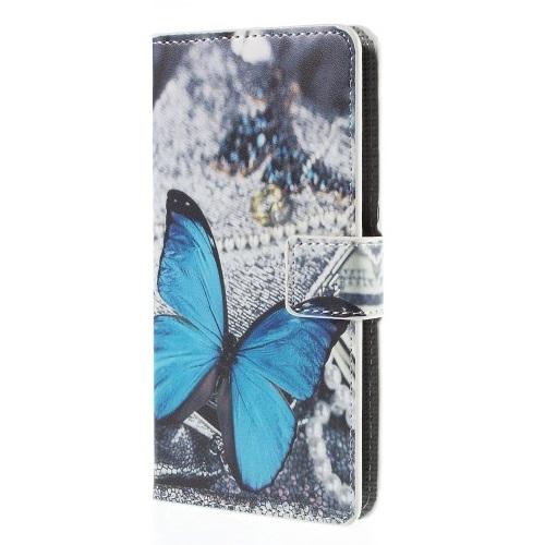 Plånboksfodral till ZTE Blade S6 - Blå Fjäril