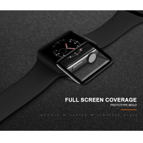 Mocolo 3D Curved Glass till Apple Watch 4 - 40mm - Svart