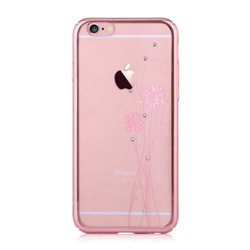 Comma Skal med Swarovski-stenar till Apple iPhone 6(S) Plus - Rose Gold