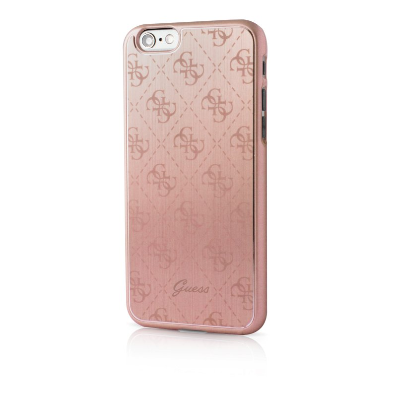 Guess iPhone 6(S) Aluminium Hard Cover - Rose Gold - TheMobileStore b878aef6ec710
