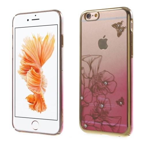 Crawford Skal med Swarovski-stenar till iPhone 6 / 6S - Flower & Butterfly