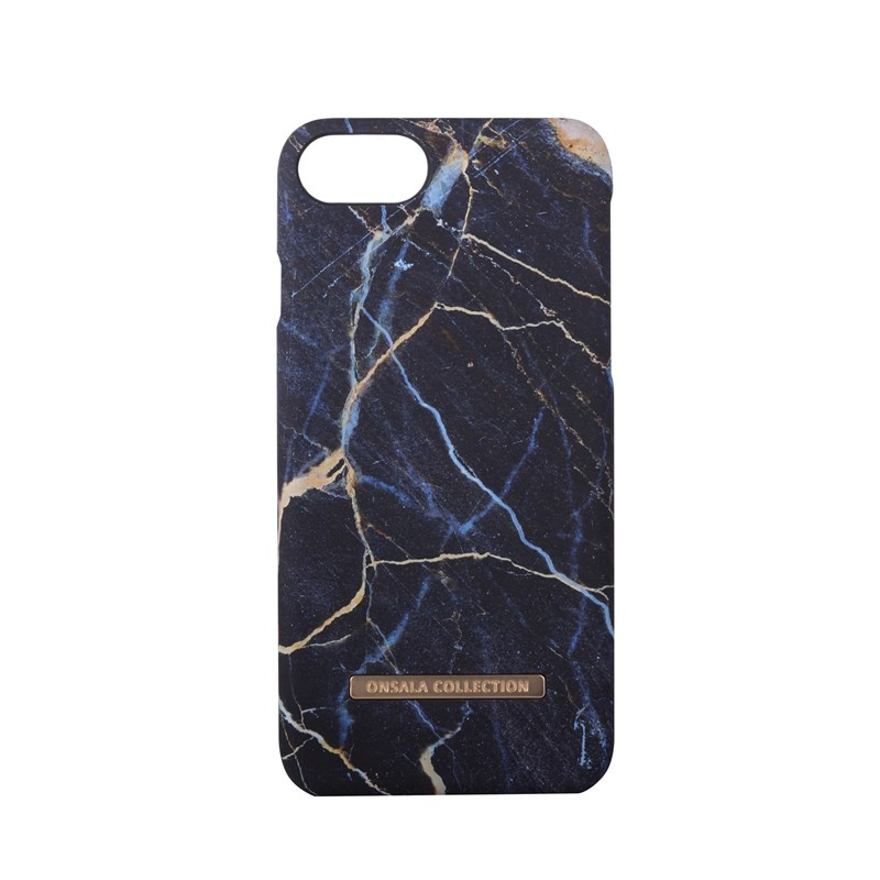 Onsala Collection mobilskal till iPhone 6/6S/7/8 - Black Galaxy Marble