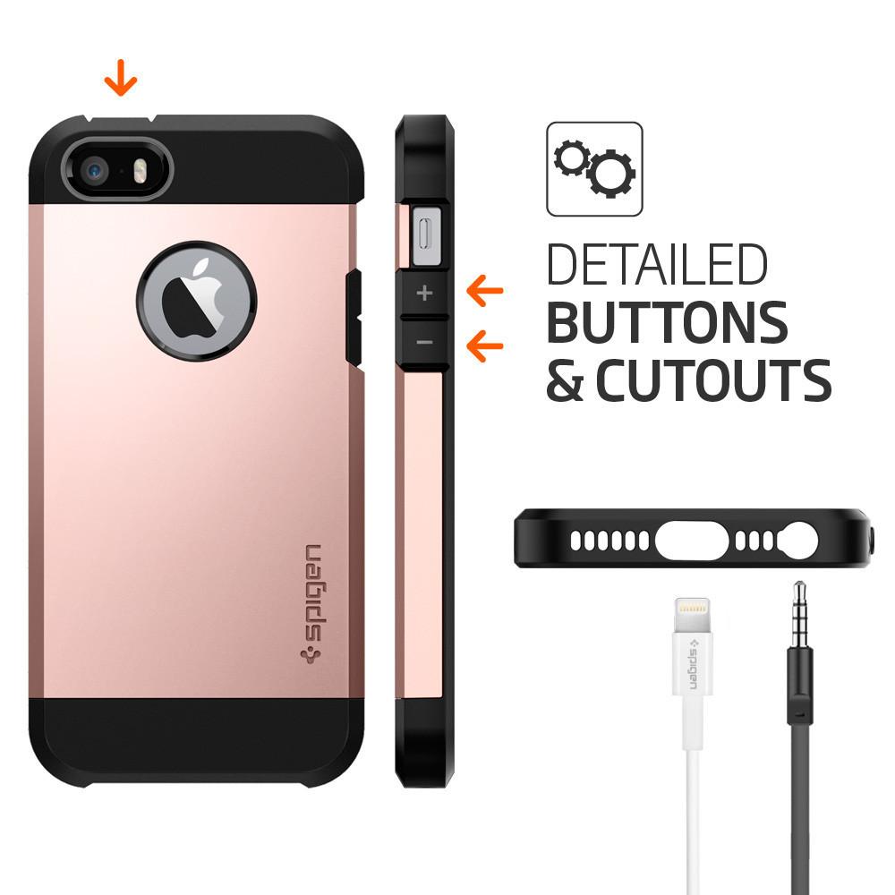 SPIGEN Tough Armor Skal till Apple iPhone 5 5S SE - Rose Gold ... 5e055e67dc24b