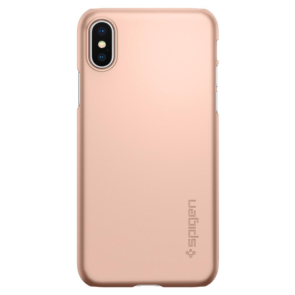 Spigen Thin Fit Skal till iPhone XS / X - Blush Gold