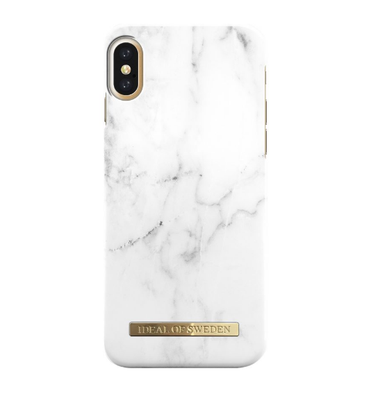 iDeal Fashion Case iPhone XS / X - White Marble