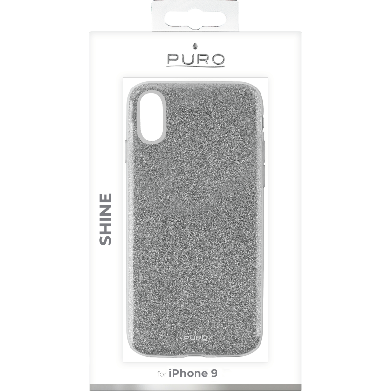 Puro Shine Cover till iPhone XR - Silver