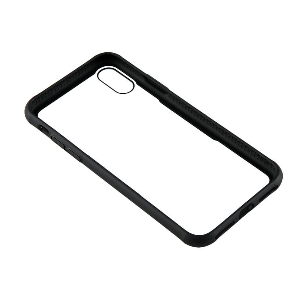 GEAR Mobilskal med Tempererat Glas iPhone X/XS - Svart