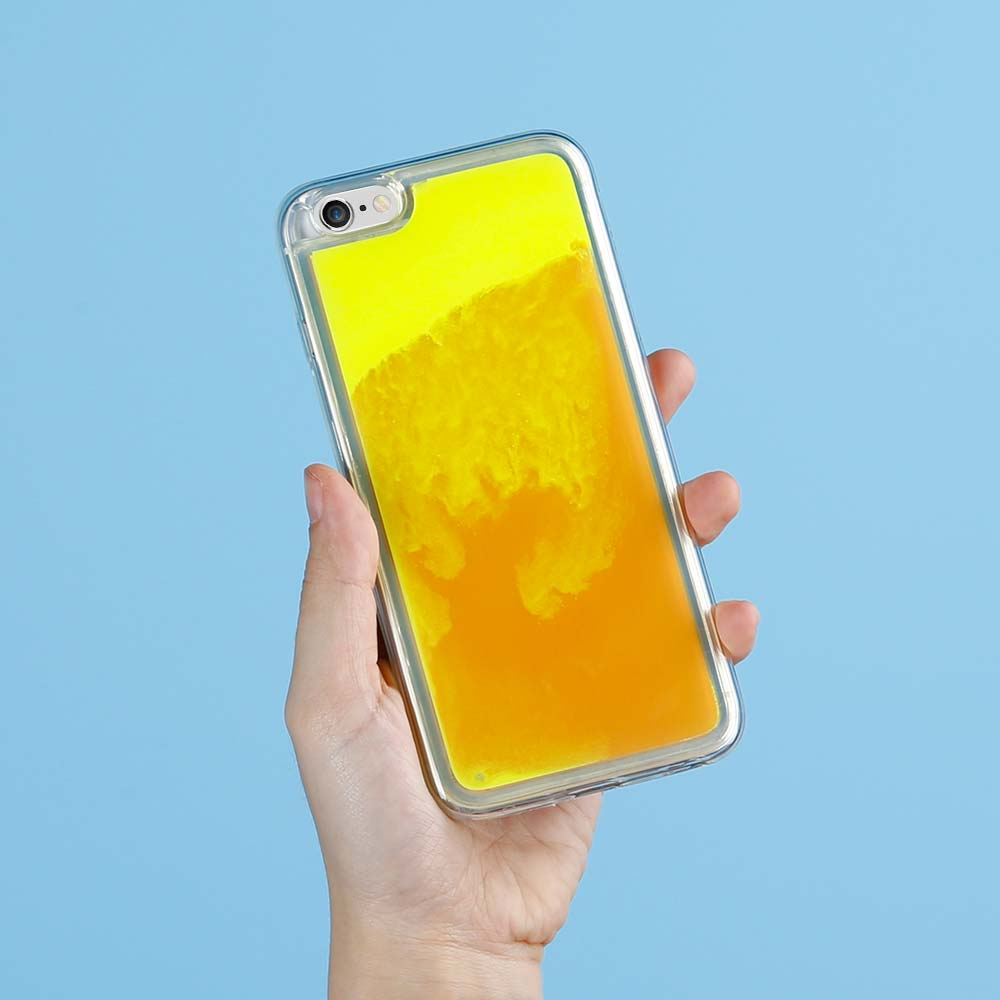 Designa Själv Neon Sand skal iPhone 6/6s Plus - Orange